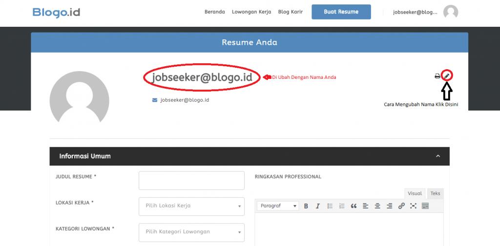 Cara Membuat Resume Online Yang Benar Blogo Id