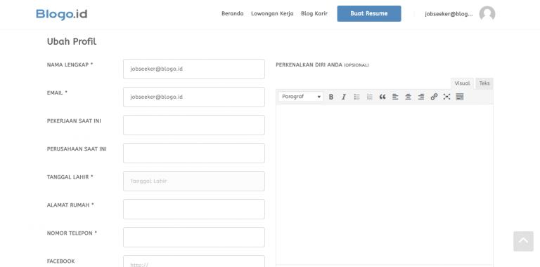 Cara Membuat Resume Online Yang Benar » Blogo.ID